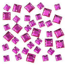 Buy John Lewis 6mm and 8mm Diamante Gems, Pack of 50 Online at johnlewis.com