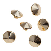 Buy John Lewis 11mm Round Studs, Pack of 6, Gold Online at johnlewis.com