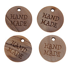 Buy John Lewis Hand Made Wooden Tags, Pack of 4 Online at johnlewis.com