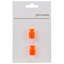Buy John Lewis Neon 18mm Cord Stoppers, Online at johnlewis.com