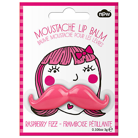 Buy Moustache Lip Balm, Pink Online at johnlewis.com