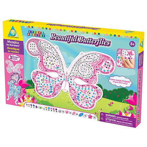 Buy Treasure Trove Beautiful Butterflies Sticky Mosaics Online at johnlewis.com