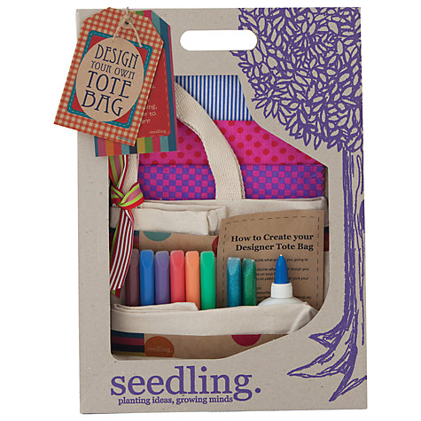 Buy Seedling Design Your Own Tote Bag Kit Online at johnlewis.com