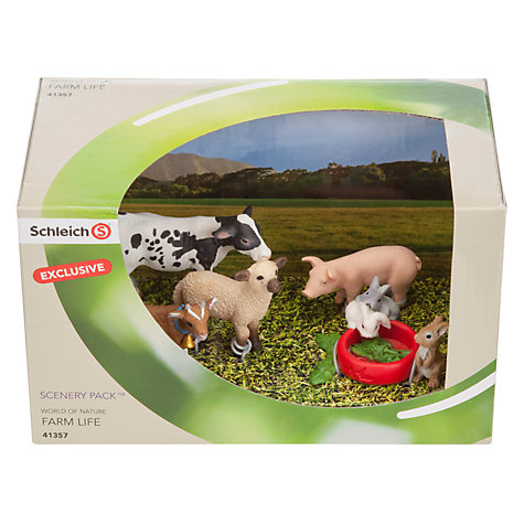 Buy Schleich Farm Life: Baby Farm Animals Scenery Pack Online at johnlewis.com
