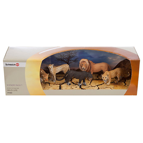 Buy Schleich Wild Life: Big Cats Scenery Pack Online at johnlewis.com