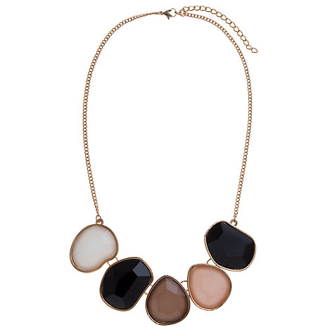 Buy COLLECTION by John Lewis Faceted Stone Necklace, Gold Online at johnlewis.com