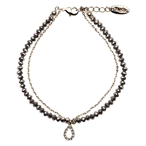 Buy Orelia Gold And Hematite Chain Bracelet Online at johnlewis.com