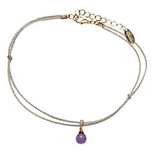 Buy Orelia Amethyst Teardrop Bracelet Online at johnlewis.com