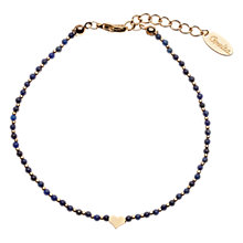 Buy Orelia Beaded Heart Bracelet, Dark Blue Online at johnlewis.com