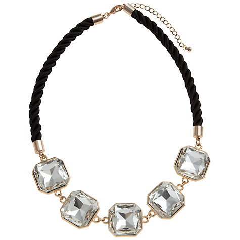 Buy COLLECTION by John Lewis Cord And Stone Necklace, Black Online at johnlewis.com