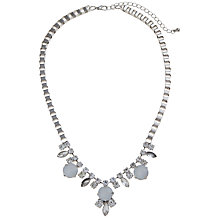 Buy COLLECTION by John Lewis Box Chain Opal Necklace, Silver Online at johnlewis.com