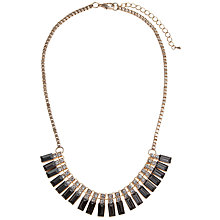 Buy COLLECTION by John Lewis Mini Baguete Necklace, Gold Online at johnlewis.com