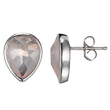 Buy A B Davis Sterling Silver Quartz Stud Earrings Online at johnlewis.com
