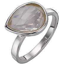 Buy A B Davis Sterling Silver Rose Quartz Ring Online at johnlewis.com