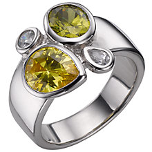Buy A B Davis Sterling Silver Peridot And Citrine Ring Online at johnlewis.com