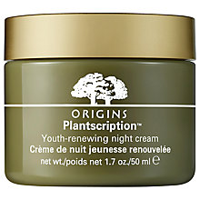 Buy Origins Plantscription™ Youth-Renewing Night Cream, 50ml with Free Plantscription™ Anti-Aging Cleanser, 150ml Online at johnlewis.com