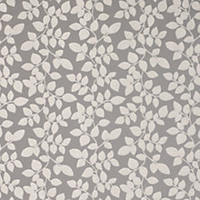 Buy John Lewis All Over Leaves Curtain, Steel Online at johnlewis.com