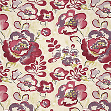 Buy John Lewis Brunswick Floral Curtain, Magenta Online at johnlewis.com