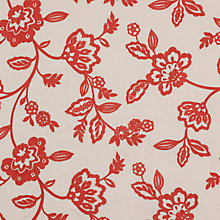 Buy John Lewis Acacia Floral Curtain, Coral Online at johnlewis.com