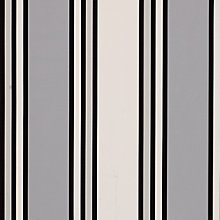 Buy John Lewis Hotel Stripe Curtain, Black Online at johnlewis.com