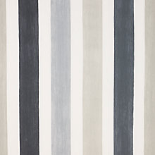 Buy John Lewis Centro Stripe Curtain, Grey Online at johnlewis.com