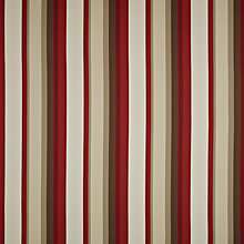 Buy John Lewis Forage Stripe Curtain, Red Online at johnlewis.com