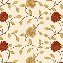 Buy John Lewis Petal Curtain, Russet Online at johnlewis.com