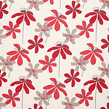 Buy John Lewis Passion Flower Curtain, Red Online at johnlewis.com