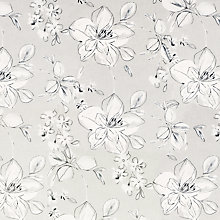 Buy John Lewis Stylo Flower Curtain, Grey Online at johnlewis.com