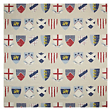 Buy John Lewis William Crest Curtain, Blue Online at johnlewis.com