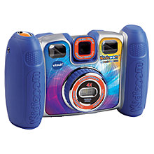 Buy V-Tech Kidizoom Twist Plus Digital Camera With Exclusive Carry Case, Blue Online at johnlewis.com