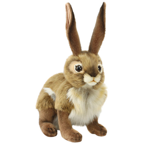 Buy Hansa Black Tail Jack Rabbit Soft Toy Online at johnlewis.com