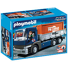 Buy Playmobil City Action Cargo Truck With Container Online at johnlewis.com