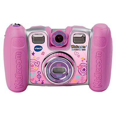 VTech Kidizoom Twist Plus Digital Camera With Exclusive Carry Case, Pink