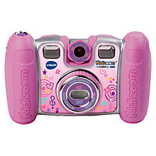 Buy VTech Kidizoom Twist Plus Digital Camera With Exclusive Carry Case, Pink Online at johnlewis.com