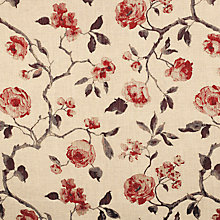 Buy John Lewis Linen Rose Curtain, Russet Online at johnlewis.com