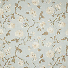 Buy John Lewis Linen Rose Curtain, Duck Egg Online at johnlewis.com