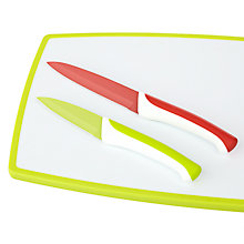 Buy John Lewis Chopping Board and Knife Set, 3 Pieces Online at johnlewis.com
