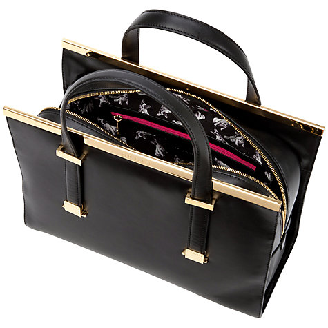 Buy Ted Baker Harpel Metallic Bar Tote Handbag Online at johnlewis.com