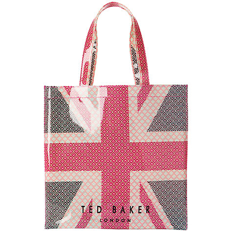 Buy Ted Baker Uniicon Large Icon Shopper Bag, Red/White/Blue Online at johnlewis.com