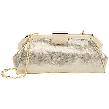 Buy Ted Baker Norra Frame Clutch Handbag, Gold Online at johnlewis.com