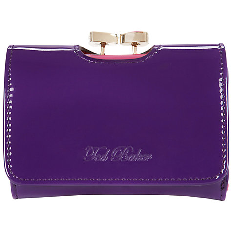 Buy Ted Baker Lenora Small Enamel Bow Purse Online at johnlewis.com