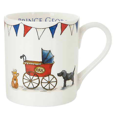Buy Milly Green Royal Baby Prince George Mug Online at johnlewis.com