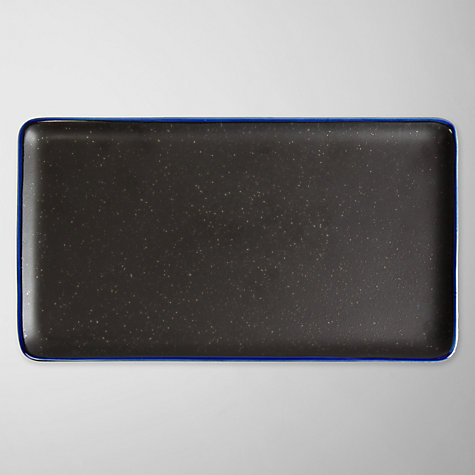 Buy John Lewis Oriental Small Rectangular Serving Plate, Blue Online at johnlewis.com