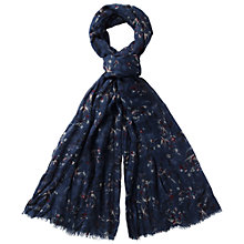 Buy Fat Face Bird And Branch Scarf, Navy Online at johnlewis.com