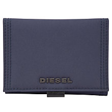 Buy Diesel Disk Fold Canvas Wallet, Blue Online at johnlewis.com