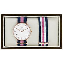 Buy Daniel Wellington 0505DW-0706 Women's Winchester Multi Strap Watch Gift Set, Navy/Pink Online at johnlewis.com