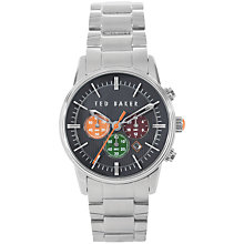 Buy Ted Baker TE3012 Men's Stainless Steel Chronograph Watch, Silver Online at johnlewis.com