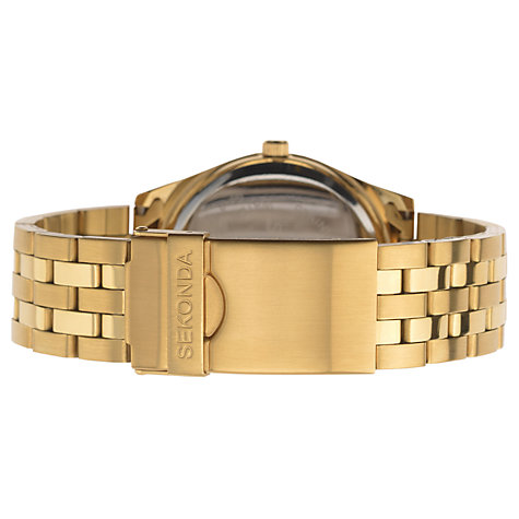 Buy Sekonda 3450.27 Men's Gold Plated Stainless Steel Bracelet Strap Watch, Gold/Silver Online at johnlewis.com