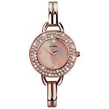 Buy Sekonda 4224.27 Women's Crystalla Bracelet Watch, Rose Gold Online at johnlewis.com
